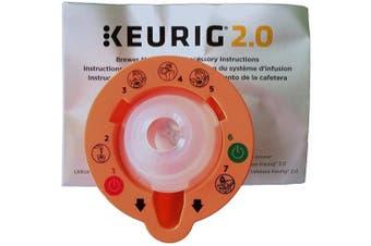 Keurig 4335457458 B01MXFTW88 2.0 Needle Cleaning Tool, kkk, Orange