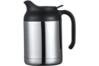 (1200ml, Sliver) - ArderLive 1200ml Thermal Coffee Carafe,Stainless Steel Insulated Double Wall Vacuum Thermos/12 Hrs Heat Cold Retention(Sliver)