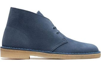 (8 UK, Blue) - Clarks Desert Boot Suede Boots in