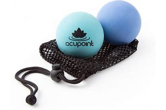 (2) - Acupoint Physical Therapy Massage Balls - Ideal For: Yoga, Deep Tissue Massage, Trigger Point Therapy And Self Myofascial Release Physical Therapy Equipment