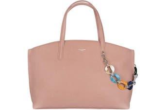 (Pink) - David Jones - Women's Large Tote Shopper Bag - Ladies Top-Handle Bag PU Leather - Casual Shoulder Crossbody Bag - Fashion Elegant Work Travel School Office City - Pink
