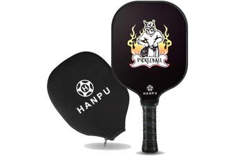 HANPU Pickleball Paddle-Lightweight Pickleball Rackets with Honeycomb Composite Core,Graphite Carbon Fibre Face,Ultra Cushion Grip,Edge Guard Pickleball Racquets Set with Durable Cover,USAPA Approved