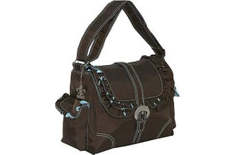 (Chocolate/Blue) - Miss Prissy Buckle Bag