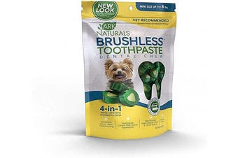 (2) - Ark Naturals Brushless Toothpaste, Dog Dental Chews for Mini Breeds, Vet Recommended for Plaque, Bacteria & Tartar Control, 1 Pack