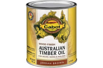(Quart, Low Voc Jarrah Brown) - Cabot 140.0019460.005 Australian Timber Oil Water Reducible Stain, Quart, Low Voc Jarrah Brown
