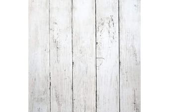 "(197 In X 17.7 In) - White Wood Peel and Stick Wallpaper 197""x17.7"" White Wood Wallpaper White Wood Removable Vintage Wood Plank Wallpaper Self Adhesive Decorative Wall Covering Vinyl Film Shelf Drawer Liner Roll"