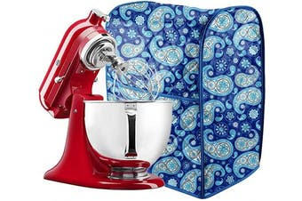 (Dark Blue) - 5-7.6l Stand Mixer Cover, Dust Cover with Pockets Compatible with KitchenAid Mixers, Sunbeam Mixers, Cuisinart Mixers, Kitchen & Dining Small Appliance Dust Cover
