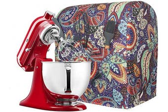 (Green) - Kitchen Aid Mixer Cover with Pockets, Compatible 5-7.6l Kitchen Aid Organiser Bag, Stand Mixer Covers Fits All Tilt Head & Bowl Lift Models TFC544