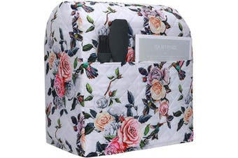 (Rose Print) - Stand Mixer Dust Cover,Cotton Quilted Kitchen Aid Mixer Cover for Kitchen Aid to Keep Clean and Safe,Compatible with All 5-7.6l Kitchen Aid Mixers CYFC358 (Rose Print)