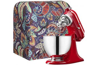 (Leaf Printed) - Stand Mixer Dust Cover Cotton Quilted Kitchen Aid Mixer Cover for Kitchen aid to Keep Clean and Safe,Compatible with All 6-7.6l Kitchen Aid Mixers (Leaf Printed)