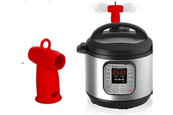(Red) - Silicone Steam Release Diverter Compatible with Instant Pot Accessories 3/5/6/7.6l - For Insta Pot Pressure Cooker Duo/Duo Plus/Smart/Ultra Models by Vnray(Red)