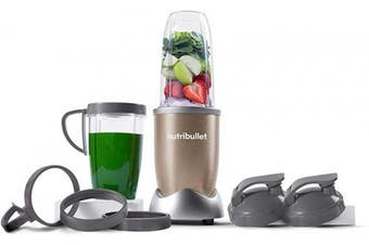 (Champagne) - NutriBullet Pro - 13-Piece High-Speed Blender/Mixer System with Hardcover Recipe Book Included (900 Watts)