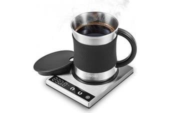 (Coffee Mug Warmer & Mug Set) - Cosori Coffee Mug Warmer & Mug Set Premium 24Watt Stainless Steel, Best Gift Idea, Office/Home Use Electric Cup BeveragePlate,Water,Cocoa,Milk