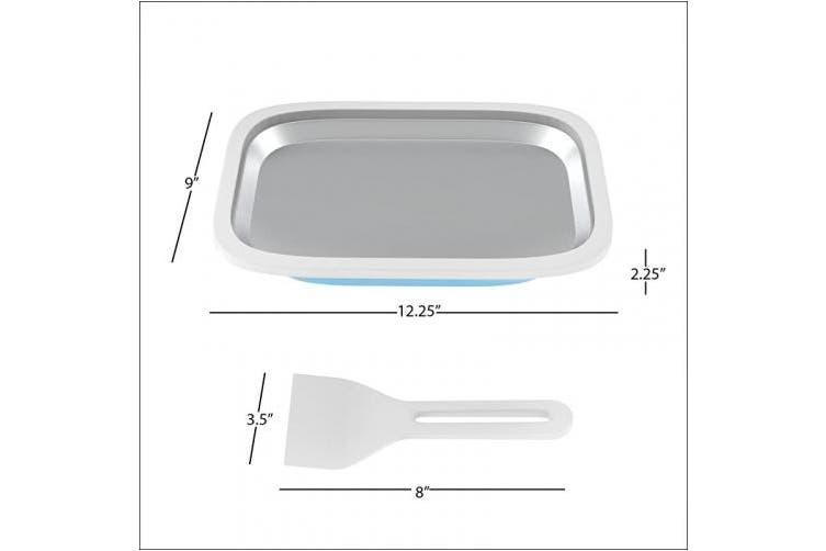 Ice Cream Roller Plate-Anti-Griddle Pan with 2 Spatulas for Easy Homemade Rolled Ice Cream, Gelato, Sorbet-Frozen Treat Maker by Classic Cuisine