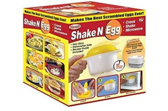 Microwave Scrambled Egg & Omelette Cooker, Fast, Delicious Microwaveable Eggs, W/Bonus Microwave Safe Hard Boiled Egg Insert- As Seen On TV