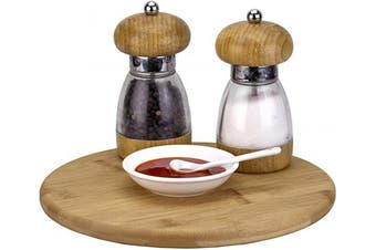 (25cm  Lazy Susan) - TB Home 25cm Bamboo Lazy Susan Kitchen Turntable for Pantry Cabinet or Table