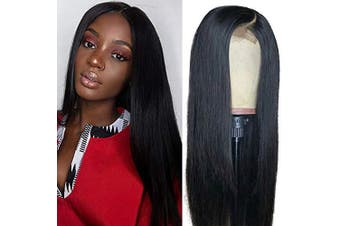 (60cm , straight hair) - Baluiki 4x 4 Lace Closure Wigs Straight Lace Front Wigs Human Hair With Baby Hair 150% Density Straight Hair Wigs For Black Women Natural Colour (60cm , straight wig)