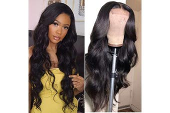 (46cm , body wave) - Baluiki 4x 4 Lace Closure Wigs Body Wave Lace Front Wigs Human Hair With Baby Hair 150% Density Body Wave Wigs For Black Women Natural Colour (46cm , body wave)