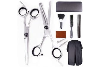 EZIGO Professional Hair Cutting Scissors Set 10 PCS Hair Cutting Scissors Thinning Shears Multi-Use Haircut Kit Scissors Hair Cutting Shears Set For Barber Salon Home Hair Cutting Scissors