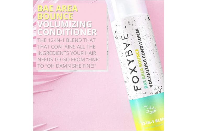 Foxybae Bae Area Bounce Volumizing Conditioner | 12-in-1 Blend Hair Detangler Conditioner for Strong, Silky Hair - Perfect for All Hair Types | Sulphate-Free, Paraben-Free, Cruelty-Free (300ml)