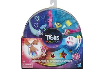 Dream Works Trolls Tiny Dancers Greatest Hits, 6 Collector Figures, Necklace, 2 Bracelets and More - Toy Inspired by Trolls World Tour