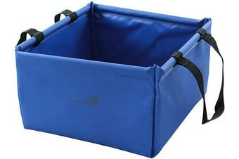 (Blue) - AceCamp 10 Litre Outdoor Folding Basin, Foldable Camping Washbowl made of Durable Vinyl, Space Saving and Lightweight, Blue + Green