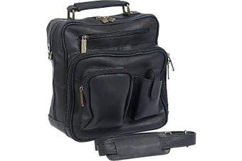 (Black) - Claire Chase 405E-black Jumbo Man Bag - Black