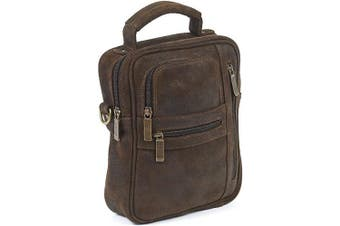 (One Size, Distressed Brown) - Medium Man Bag