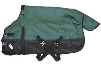 (130cm , Green) - AJ Tack Wholesale Pony Horse 1200D Turnout Blanket Rip Stop Water Proof Medium Weight