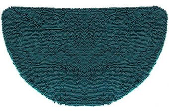 (Half-Moon (60cm  x 90cm ), Teal) - My Doggy Place - Ultra Absorbent Microfiber Dog Door Mat, Durable, Quick Drying, Washable, Prevent Mud Dirt, Keep Your House Clean (Sizes: Medium, Large, X-Large Runner, Hallway Runner, Half Moon)