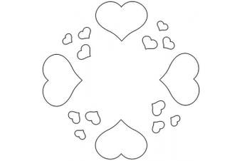 Badger Totally Tattoo Body Art Stencils Circle of Hearts-22-760