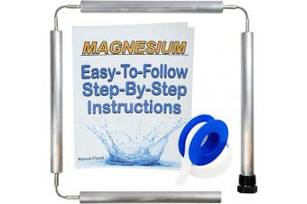 (WITHOUT SOCKET AND CAP) - About Fluid | Magnesium Flexible Anode Rod Kit for Water Heaters | Teflon Tape | Easy-to-Follow, Step-by-Step Instructions | 110cm Long. (Without Socket and Cap)
