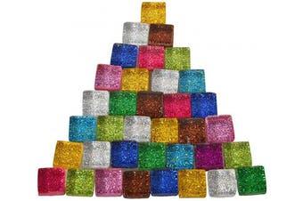 (100g) - BestTeam Mixed Colour Crystal Mosaic Tiles, 10 Colour Transparent Glass Mosaic Tiles Glass for Art Crafts DIY Children Puzzle Handmade Materials Home Decor (100g)