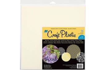 Grafix KOWCP125 Craft Plastic Sheets 30cm x 30cm 25/Pkg-Opaque White .010, Multi