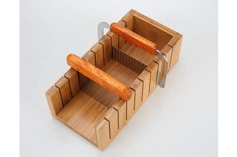 (Bamboo soap mould) - Wood Soap Mould Loaf Cutter Mould with 1pcs Wavy & Straight Planer Cutting Tool Set (2.5cm )