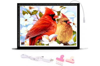 (A3) - HomeCraftology Diamond Painting A3 Light Pad, Ultra-Thin Tracing Drawing Board, Stepless Adjusted Dimmable Brightness Diamond Painting Light Board with Accessories (Upgrade)