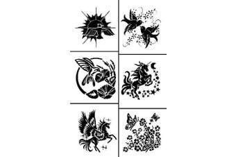 Armour Etch Rub N Etch Stencil Fliers, 13cm by 20cm