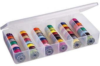 ArtBin 8156AB Large Bobbin Box, Sewing Bobbin Organiser, [1] Plastic Storage Case, Clear
