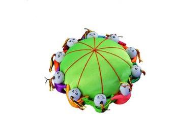 (Green) - Carykon 10cm Oriental Handmade Needle Pin Cushion with 10 Kids (Green)
