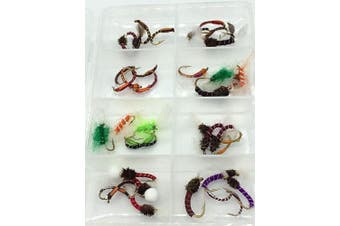 BestCity Fly Fishing SUMMER BUZZER SET for trout, 40 Flies in sizes 10-14