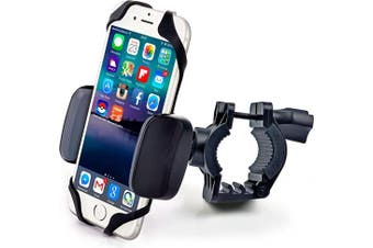 (Super Durable Plastic Mount) - Bike & Motorcycle Phone Mount - for iPhone 11 Pro (Xs, Xr, 8, Plus/Max), Galaxy s20 or Any Cell Phone - Universal Handlebar Holder for ATV, Bicycle & Motorbike. +100 to Safeness & Comfort