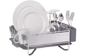 (38cm -by-34cm , Satin Gray) - KitchenAid Compact Stainless Steel Dish Rack, Satin Grey, 38cm -by-34cm - KNS895BXGRA