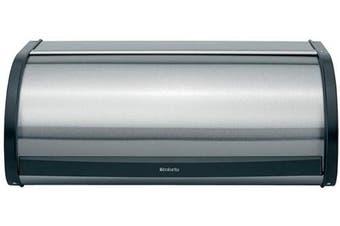 (Large, Matt Steel Fingerprint Proof) - Brabantia Roll Top Bread Box, Matt Steel Fingerprint Proof Colour - Large