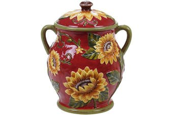 Certified International Sunset Sunflower Biscuit Jar,One Size, Multicoloured