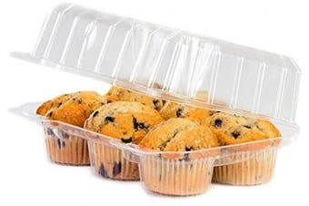 1/2 Dozen Cupcake Container (6 cavities), 25 ct.