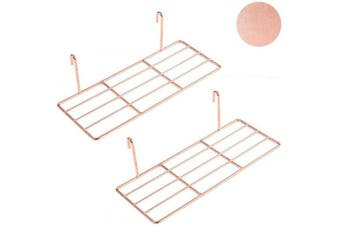 (Tray, Rose Gold) - Set of 2 Rose Gold Shelf for Wall Grid, Multifunction Grid Board Decor, Can be Used to Display Succulents, Cactus Plants, Artwork