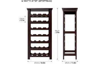 (Dark Brown) - Homfa Bamboo Wine Rack, 7 Tier Free Standing Wine Storage Rack Display Shelves 28 Bottles Capacity Storage Standing Table, Wobble Free for Home Kitchen, Dark Brown