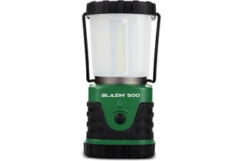 (500 Lumen, Green) - Brightest LED Camping & Hurricane Lantern - Battery Operated - 500 Lumen - Runs Up to Six Days Continuously