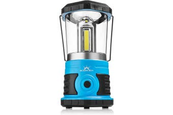 (800 Lumen, Clear Top) - Blazin' Sun 800 | Brightest Lanterns Battery Powered LED Camping and Emergency | Hurricane, Storm and Power Outages (Blue)