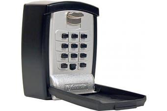 (1) - KeyGuard SL-590 Punch Button Key Storage Wall Mount Lock Box, Black Finish